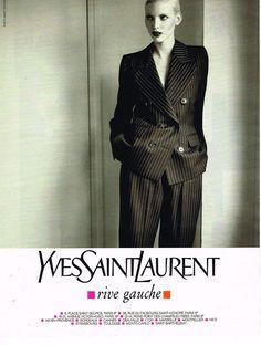 1995 Yves Saint Laurent Rive Gauche. Nadja Auermann models.