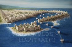 The Port of Sidon, Phoenicia, in the Iron Age – Archaeology Illustrated Ancient Egypt History, Ancient Egyptian Art, Ancient Aliens, Ancient Greece, Historical Architecture, Ancient Architecture, European History, American History, Ancient Buildings