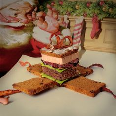 a #creative #burger #santa #amazing #warped #gift