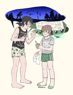 "memorille: ""  college AU where pidge and keith are roommates and keith wont stop telling pidge about conspiracy theories """