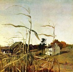 Andrew Wyeth Autumn Cornfield  1950