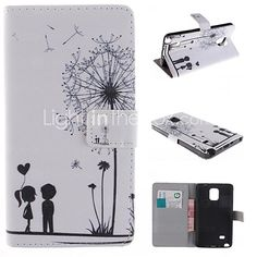 Dandelion and the Design of Lovers PU Full Body Case with Stand with Card Slot for Samsung Galaxy Note 4 5 Wallet Case Galaxy Note 4 Case, Mobile Price, Full Body, Galaxies, Slot, Dandelion, Iphone Cases, Samsung Galaxy, Lovers