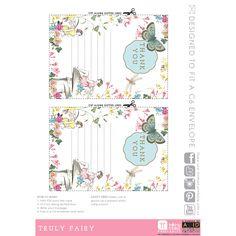 Printable Fairy Thank You Cards