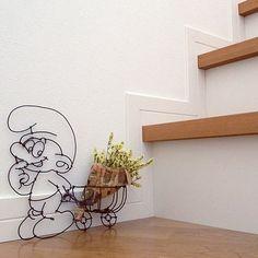 壁/天井ではなく階段。/スマーフ/ワイヤークラフト/ベッド周りのインテリア実例 - 2014-08-03 18:12:21 | RoomClip(ルームクリップ)