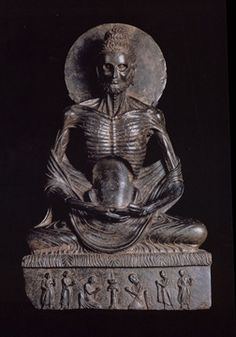 Fasting Buddha, Greco-Buddhist art, Afghanistan