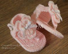 Crochet bambino Sandali sandali da gladiatore di EditaMHANDMADE