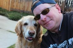 Phoenix, Golden Retriever - One Worried Dad