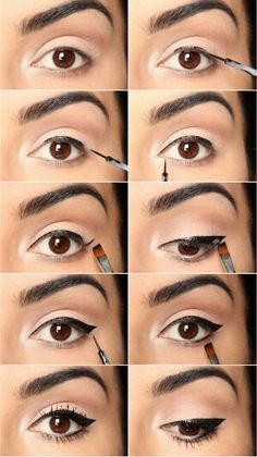 Great idea for how to apply liquid eye liner!