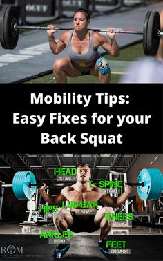 Crossfit Mobility Tips – Easy Fixes for your Back Squat