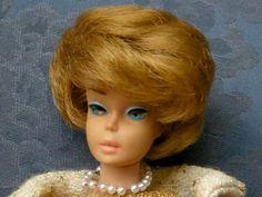 Bubblecut Barbie -- just got her, but her lipstick turned white (Platinum)