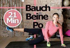 Bauch Beine Po Training für Zuhause - Ohne Springen - Knieschonend - Sch...
