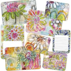 ART POPS™ Cards - In the Garden Collection - Mail art with stickers and art cards by Roben-Marie Smith