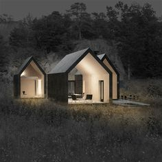 Micro cluster cabins by reiulf ramstad arkitekter tiny house design, modern tiny house, cabin Architecture Durable, Residential Architecture, Contemporary Architecture, Interior Architecture, Scandinavian Architecture, Beautiful Architecture, Scandinavian Cabin, Installation Architecture, Pavilion Architecture