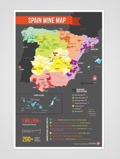 Spain Wine Region Map - enjoy the fruits of their labors with the massive Spanish wine selection at riversidewines.com