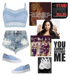 """""""Take a stand against bullying"""" by mags07 ❤ liked on Polyvore featuring Lipsy, One Teaspoon and Vans"""