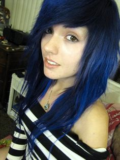 More Gorgeous With Dark Blue Hair Color