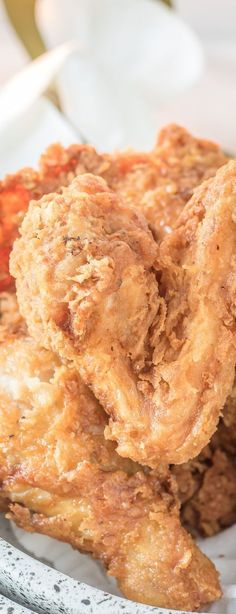 Easiest and best fried chicken recipe I've ever tried - SOUTHERN FRIED CHICKEN from ThisSillyGirlsKitchen.com