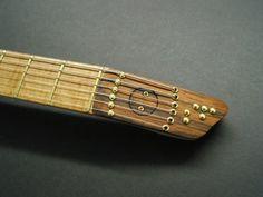 Scott French Headless Travel Guitar Headstock Detail