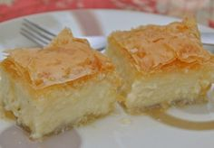 Impossible to resist, this creamy custard pie called Galaktoboureko is one of the all-time favorite Greek desserts.