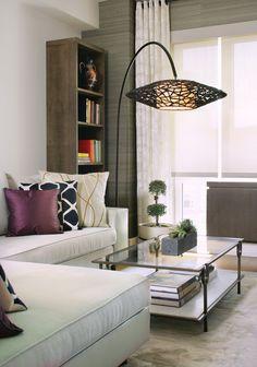 Astounding Bookshelf Floor Lamp Decorating Ideas Gallery in Living Room Contemporary design ideas