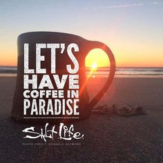 Coffee in paradise! Yes, please!