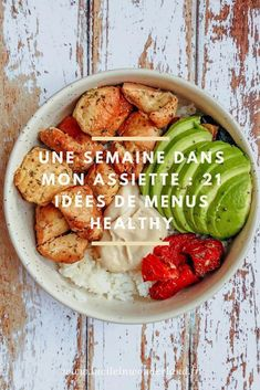 21 balanced meal ideas - Lucile in Wonderland - 1 week on my plate # 2 : 21 balanced meal ideas - Cooking For Two, Batch Cooking, Cooking Light, Menus Healthy, Healthy Snacks, Healthy Recipes, Clean Eating Snacks, Healthy Eating, Plats Healthy