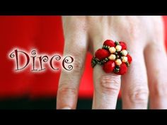 Cluster Ring _ Day 5 of 5 Day Marathon of Ring 💍 Diy Beaded Rings, Beaded Earrings, Beaded Jewelry, Wire Jewelry, Crystal Jewelry, Jewelry Bracelets, Drop Earrings, Tutorial Anillo, Ring Tutorial