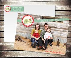 5 x 7 Printable Christmas Photo Card
