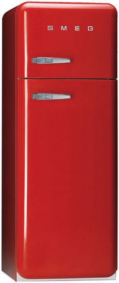 "Smeg ""Retro"" Style Fridge Freezer in Red"