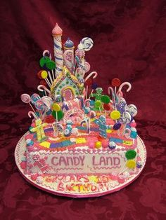 Our Cake Gallery Crazy Cakes, Candy Land Theme, Candy Theme Cake, Candy Land Cakes, Candy Land Birthday, Candy Land Decorations, Birthday Cakes, Birthday Ideas, Cake Pops