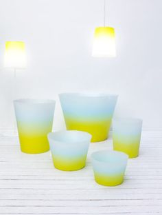 Alba pots and lights, designed by Massimiliano Adami for Serralunga