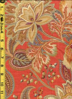 img9393 from LotsOFabric.com! Harvest colors work all year around with fun floral patterns like this. A linen blend for a basecloth makes this piece great for drapery or upholstery. Order swatches online or shop the Fabric Shack Home Decor collection in Waynesville, Ohio. #drapery #upholstery #bedding #throw #pillow #interior #design #decorating #homes