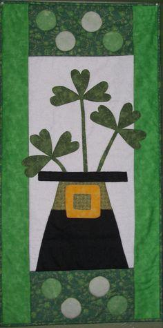Shamrock Quilt  St. Patrick's Day  www.quiltweb.net  www.appalachianquilts.blogspot.com