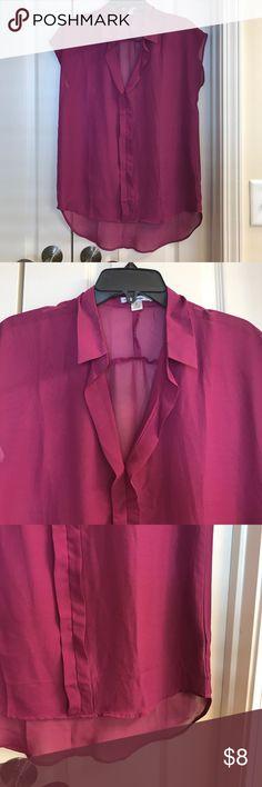 Size s Papaya sheer plum blouse Size s Papaya sheer plum blouse Papaya Tops Blouses