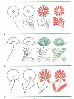 27 Trendy Ideas for folk art painting techniques flower Russian Folk Art, Ukrainian Art, Tole Painting, Fabric Painting, Painting Flowers, Painting Tips, Watercolor Painting, Folk Art Flowers, Flower Art