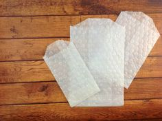 25 Polka Dot Embossed Glassine Favor Bags by ILoveYoYoWedding, $4.99