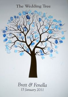 thumbprint tree | ... **Birthday**Anniversary**Baby Shower** - Fingerprint Guestbook Tree