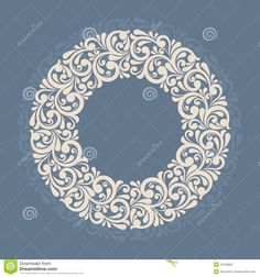 Round Floral Frame. - Download From Over 26 Million High Quality Stock Photos, Images, Vectors. Sign up for FREE today. Image: 37516852