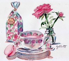 Comptoir de Richard Rose Tea: by ParisBreakfast  #tea #illustration
