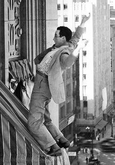 Harold Lloyd in Feet First, 1930.