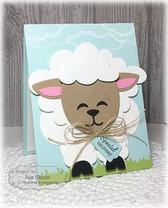 Taylored Expressions February Sneak Peeks: Tag Along Easter and Sack It - Lamb - Deconstructing Jen - Special Delivery by Jen Shults, handmade card Imágenes efectivas que le proporcionamos sobre diy ho - Diy Easter Cards, Easter Crafts, Handmade Easter Cards, Sheep Cards, Punch Art Cards, Kids Cards, Creative Cards, Cute Cards, Greeting Cards Handmade
