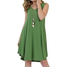 f2d271000d9b02 Casual Loose Sleeveless Solid Color Mini Dresses