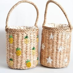 Be Bold Bucket Woven Bag - Bolsa palha - 2019 Trends Diaper Bag Backpack, Diaper Bags, Macrame Bag, Macrame Mirror, Macrame Curtain, Unique Handbags, Embroidery Bags, Boho Bags, Crochet Bags