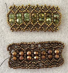 Linda's Crafty Inspirations: Playing with my Beads...LiriGal's bracelet tweaked