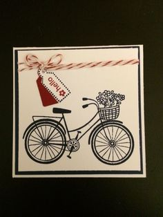 Stampin' Up! - Tiny Tags Hero Art - Bicycle
