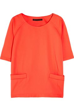 Take SS12's color-shock trend to the extreme with Marc by Marc Jacobs' neon-orange crepe top.