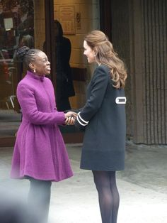 12/8/2014 The Duchess of Cambridge is greeted by the First Lady of New York #harlem #RoyalVisitUSA