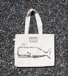 The Great Whale Organic Canvas Tote Bag//