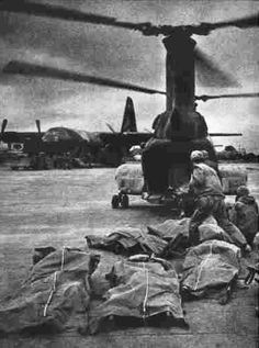 1968. Vietnam War - Marines casualties  from Khe Sanh.. .