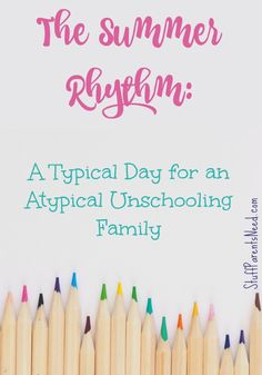 If you are looking for ideas on how to create a laid back rhythm for summer at home with the kids, or if you are a homeschooling family and want to keep going, but be low key about it, check out what a typical day for my family looks like at home. High School Days, Middle School, Back To School, Homeschool High School, Elementary Schools, Chicken Art, Home Schooling, Low Key